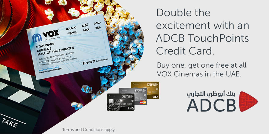Buy one take one free ticket - ADCB TouchPoints Credit Card