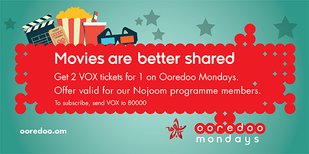 Ooredoo Monday 2 tickets for 1 is now back online