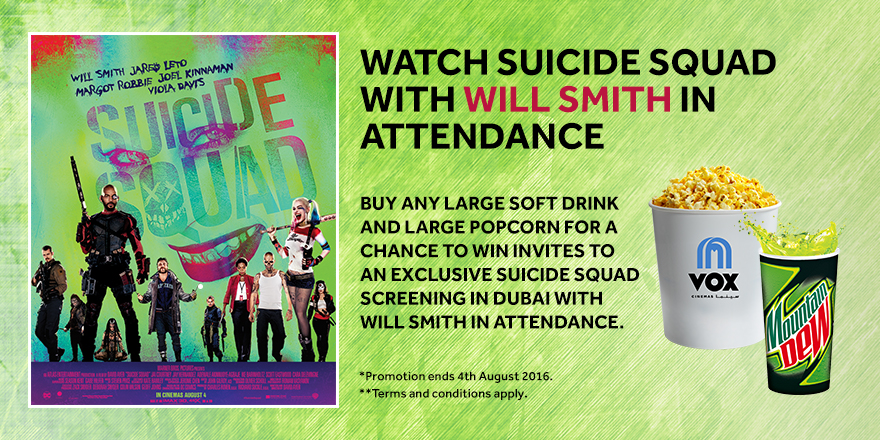 Watch Suicide Squad with Will Smith in attendance