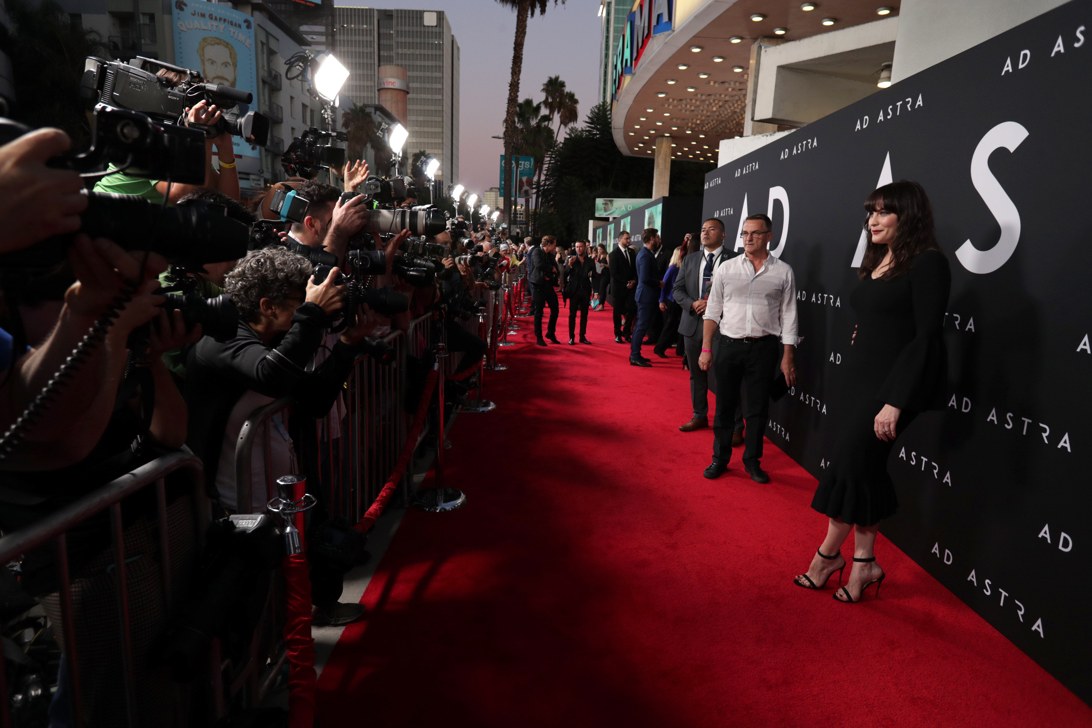 Photographers and media arrive at Ad Astra Hollywood premiere