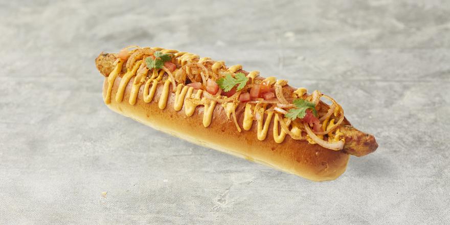 Seekh kabab hotdog