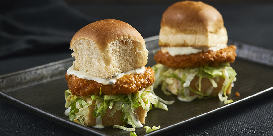 Order Buffalo Chicken Sliders from Top Bun today!