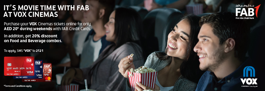 FAB 50% off tickets | VOX Cinemas UAE