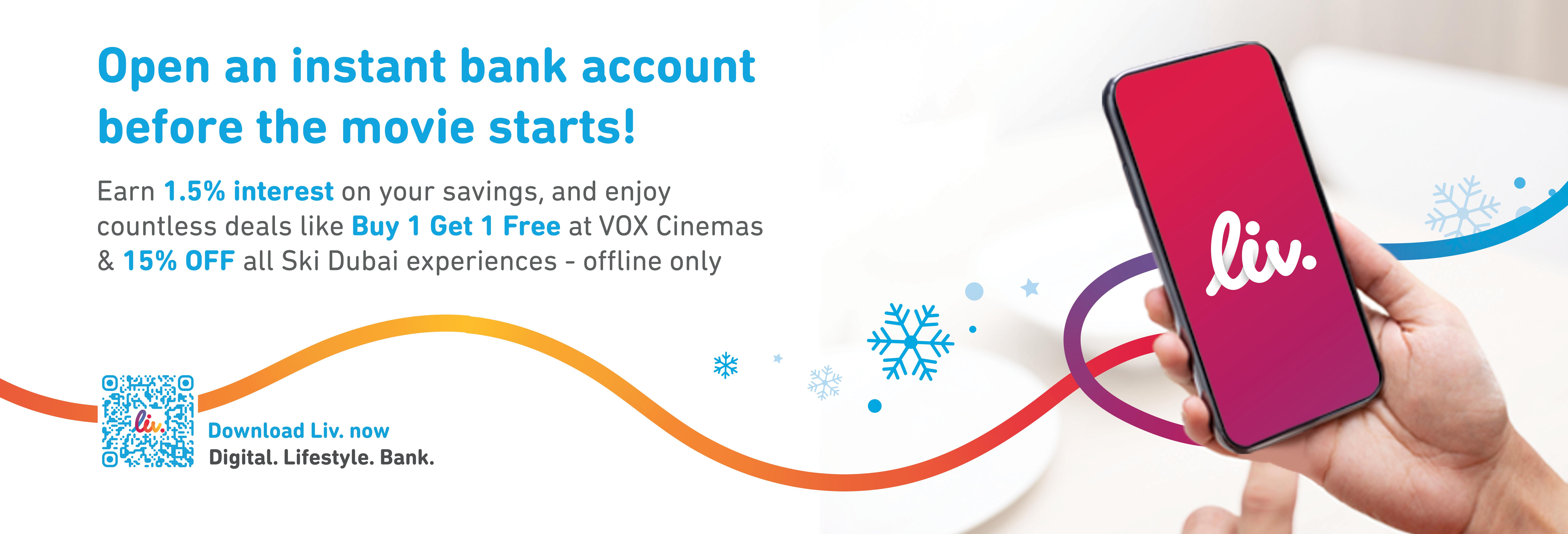 Enjoy 15% off at Snow Cinema with Liv.