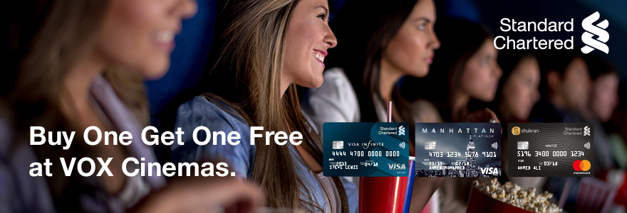 Standard Chartered Bank Buy One Get One Free | VOX Cinemas UAE