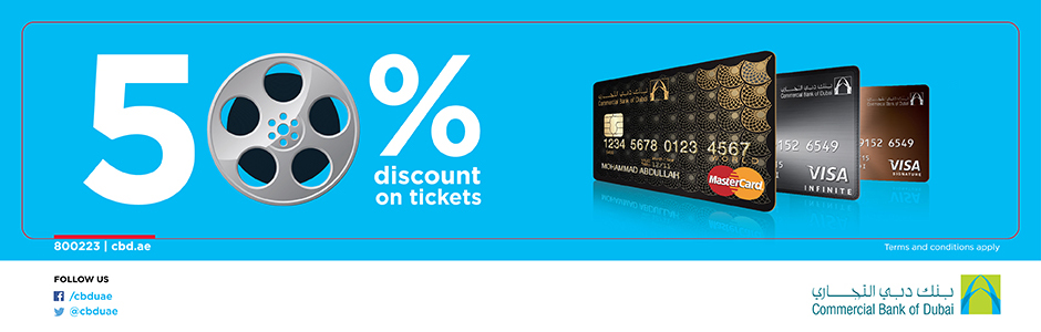 CBD Credit Card - 50% Off | VOX Cinemas UAE