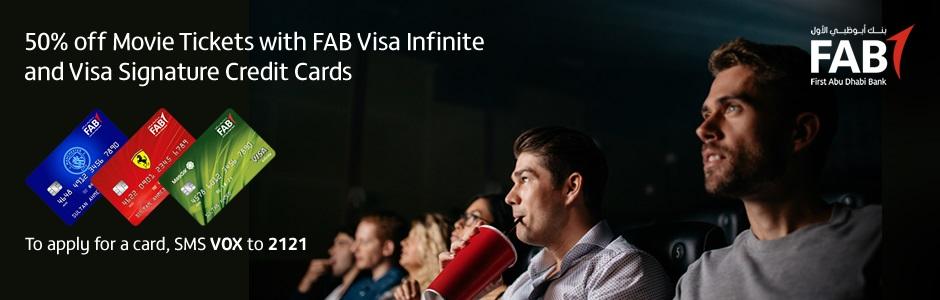 FAB 50% off tickets | VOX Cinemas UAE