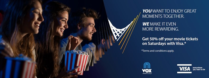 Cinema Tickets Offers for Visa Card Holders | VOX Cinemas Qatar
