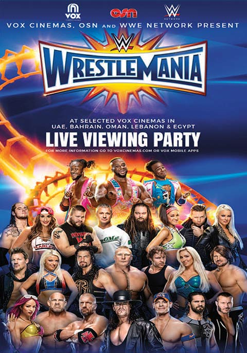 Wrestlemania 33 Rerun 2017 Now Showing Book Tickets