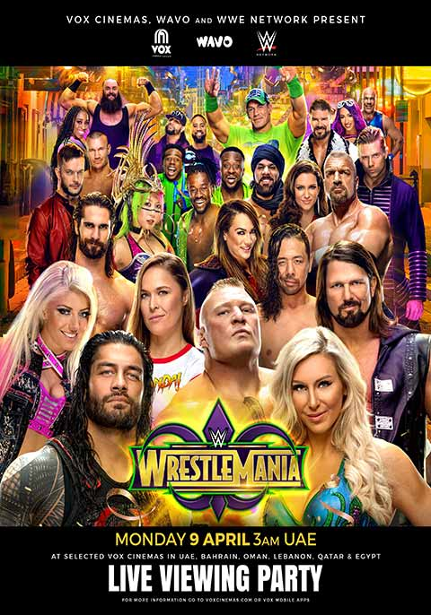 WrestleMania 34 - Live Event 2018 | Now Showing | Book Tickets | VOX