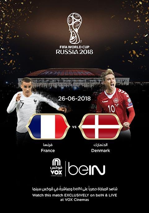 World Cup: Denmark vs France [Arabic]