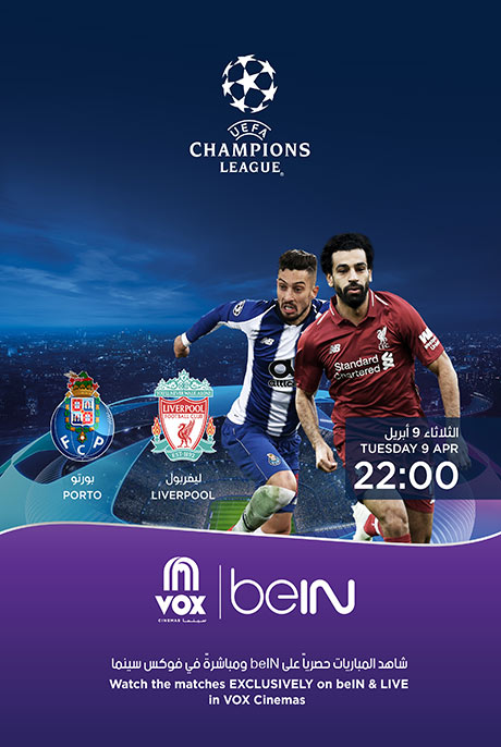 UEFA CL Liverpool VS Porto Now Showing Book Tickets