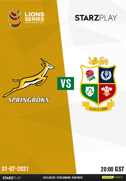 Rugby :Springboks vs British & Irish Lions- Test 2